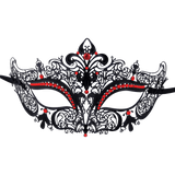Burlesque-Boutique Women's Laser Cut Metal Venetian Crown Mask