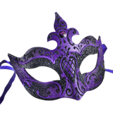 Farfallina Deco Black And Purple Mask