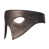 Genuine Real Black Leather Eye Mask
