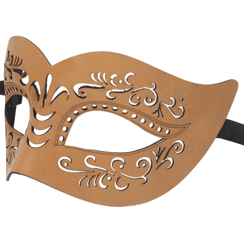 RedSkyTrader Mens Bonded Leather Venetian Mask