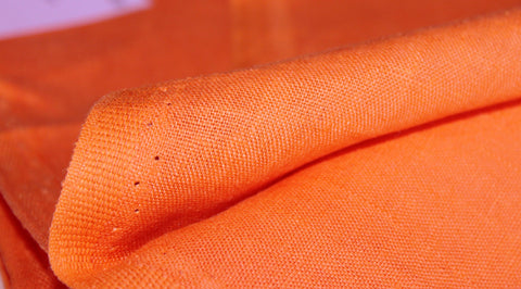 Coupon tissu lin souple orange
