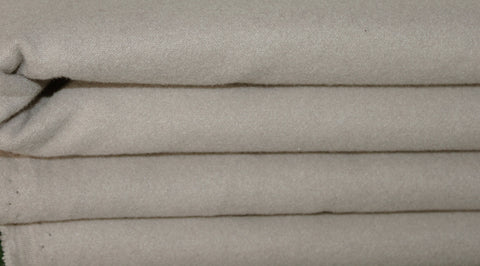 Coupon tissu caban polyester viscose laine grège