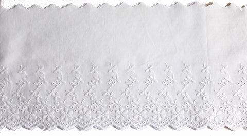 mercerie galon fantaisie ruban sequins broderie anglaise blanche