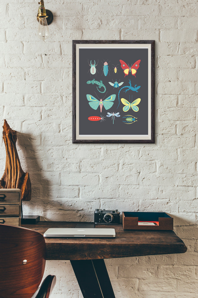 Creepy crawlies bug art print by Revel & Co.