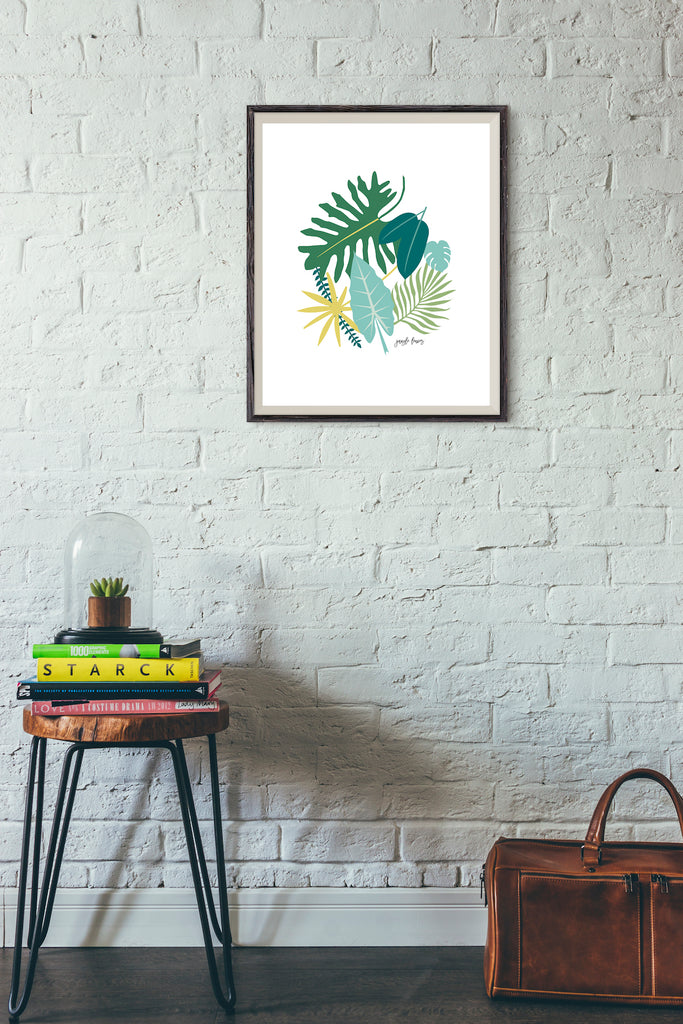 Jungle leaves botanical art print by Revel & Co.