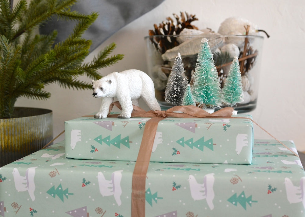 Polar bears Christmas wrapping paper by Revel & Co.