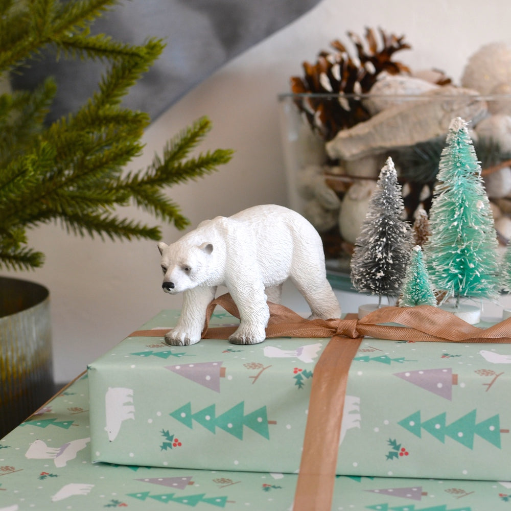 Polar bear holiday gift wrap by Revel & Co