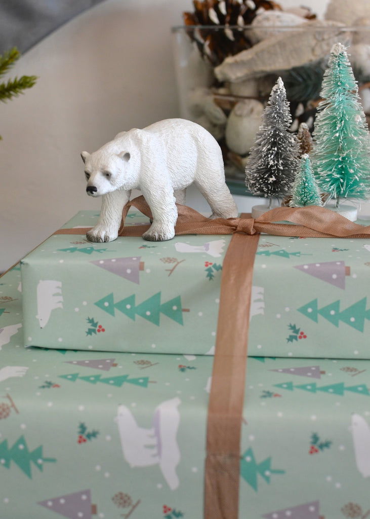 Polar bear wrapping paper by Revel & Co.