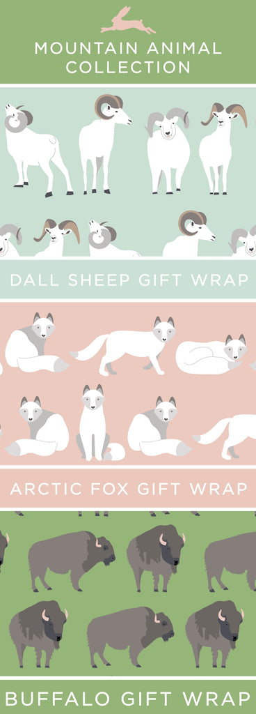 Revel & Co's Mountain Animal Gift Wrap Collection