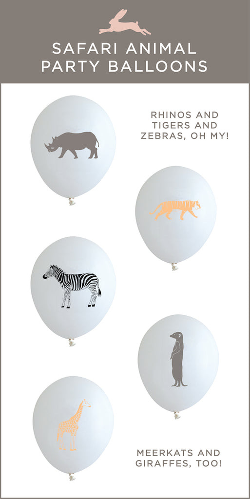 Safari animal party balloons by Revel & Co.