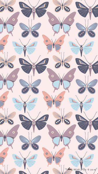 Revel & Co. April iPhone butterfly wallpaper