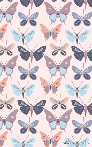 Revel & Co. April butterfly wallpaper for Android