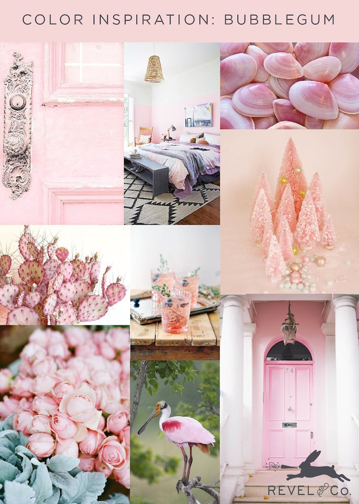 Revel & Co's Color Inspiration: Bubblegum
