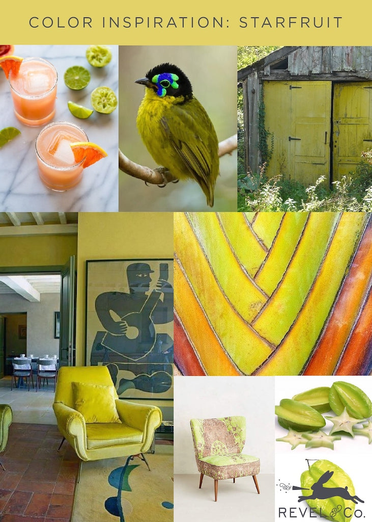 Revel & Co.'s Color Inspiration: Starfruit
