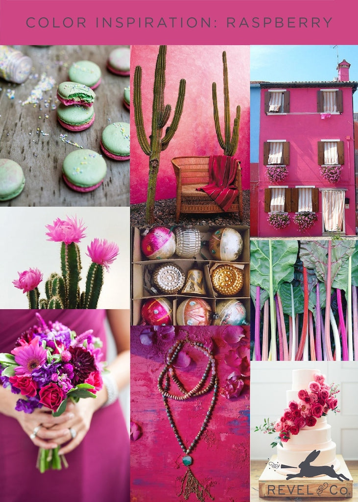 Revel & Co's Color Inspiration: Raspberry