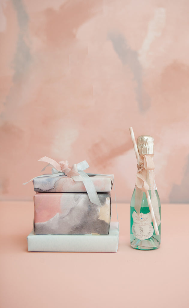 Rose Quartz Abstract Gift Wrap by Revel & Co.