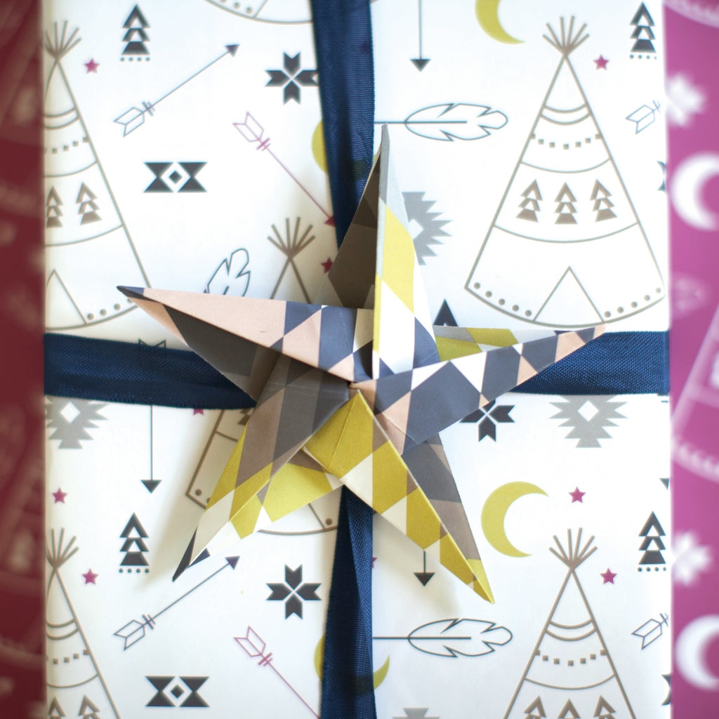 Taos tribal wrapping paper by Revel & Co.