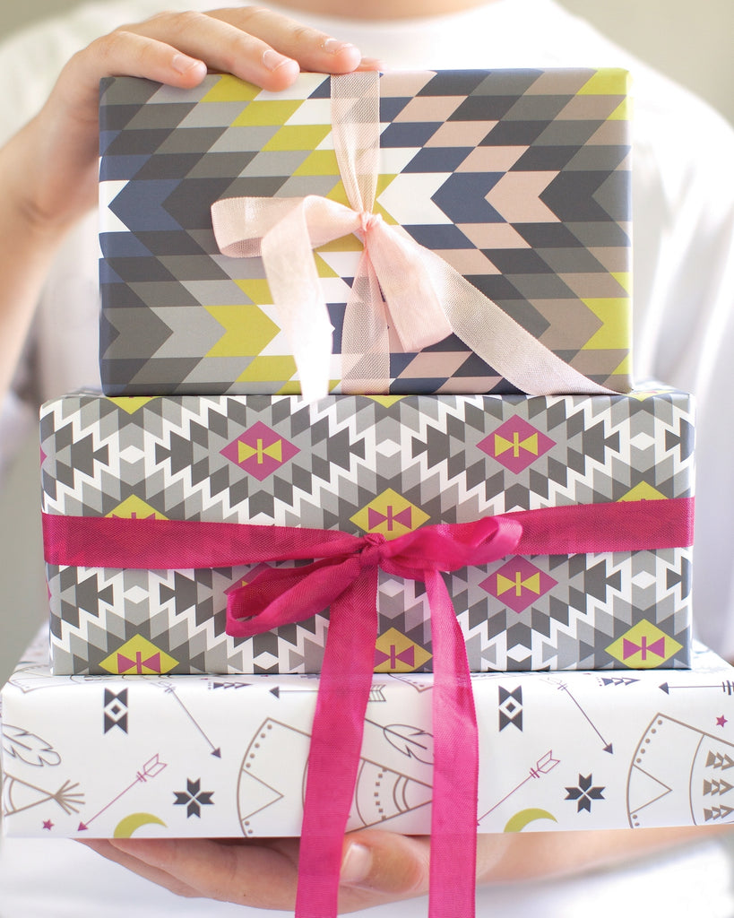 Tribal gift wrap by Revel & Co.
