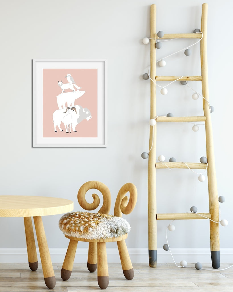 Mountain Animal art print by Revel & Co.