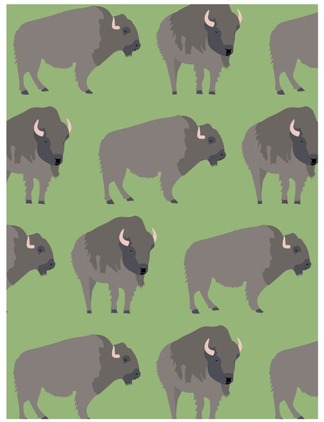 Buffalo wrapping paper by Revel & Co.