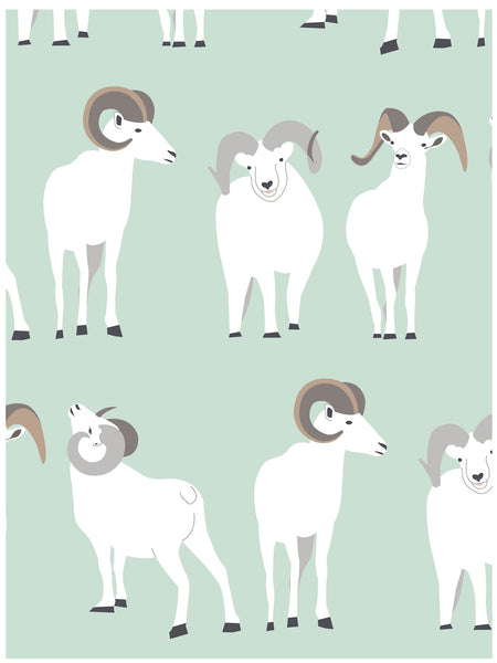 Dall ram wrapping paper by Revel & Co.