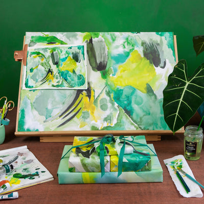 emerald abstract collection of wrapping paper by Revel & Co.