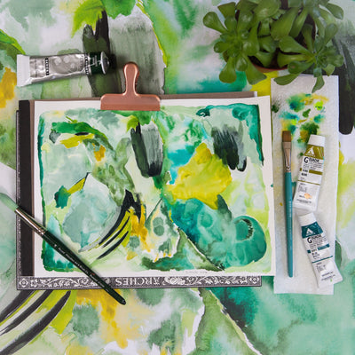 green abstract wrapping paper