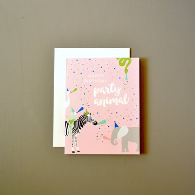 Party zebra birthday card by Revel & Co.