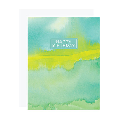 Green Abstract Birthday Card by REVEL & Co.