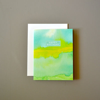 Watercolor abstract masculine birthday card by Revel & Co.