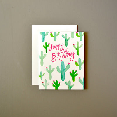 Cacti birthday card by Revel & Co.