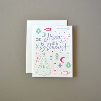 Tribal boho feminine birthday card by Revel & Co.