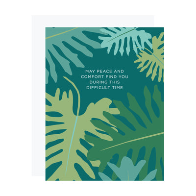 Botanical Sympathy Card, Peace and Comfort Sympathy Card by REVEL & Co.