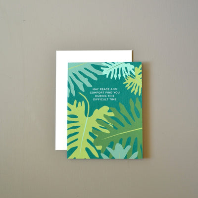 Peace and comfort botanical sympathy card by Revel & Co.