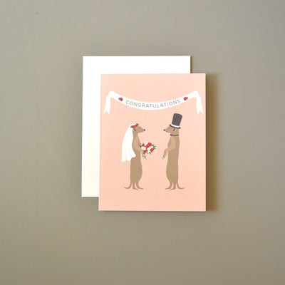 Meerkats wedding congratulations card by Revel & Co.