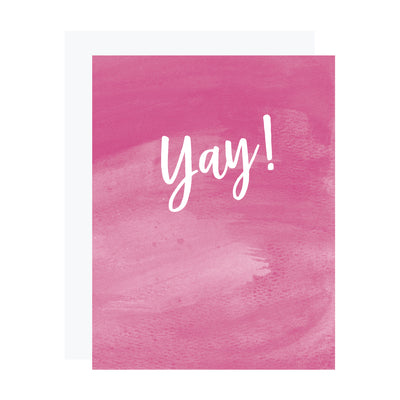 Yay! Congratulations or birthday card by REVEL & Co.