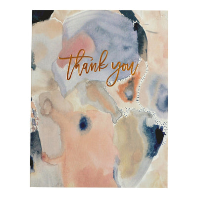 Feminine thank you card with rose gold foil by REVEL & Co.
