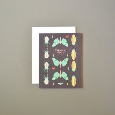 Scientific bugs masculine thank you card by Revel & Co.