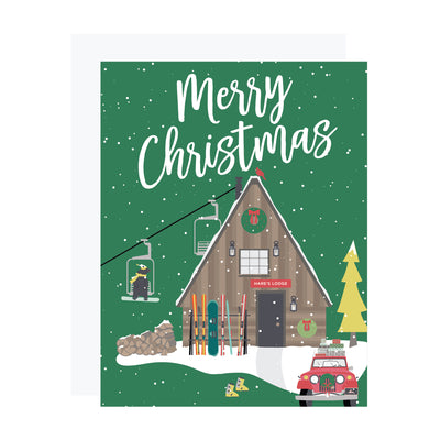 Ski Chalet Christmas Card by REVEL & Co.