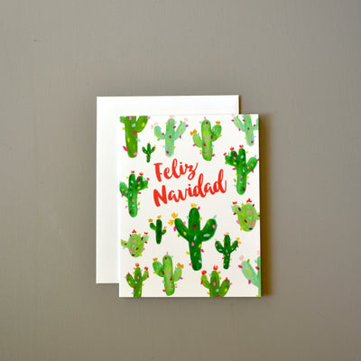 Feliz Navidad Christmas cacti card by Revel & Co.