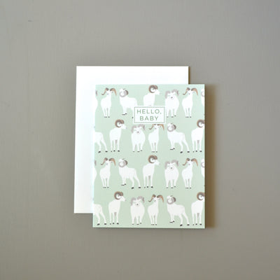 Dall sheep baby card by Revel & Co.