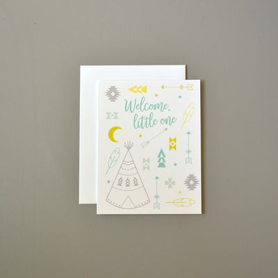 Gender neutral tribal baby card by Revel & Co.