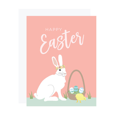 Easter Card with White Rabbit by REVEL & Co.