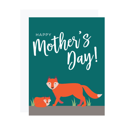 Mother's day card with fox, by REVEL & Co.