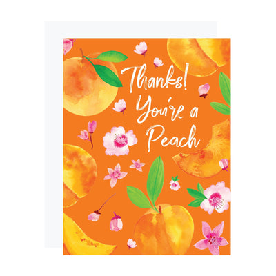Peaches thank you card by REVEL & Co.
