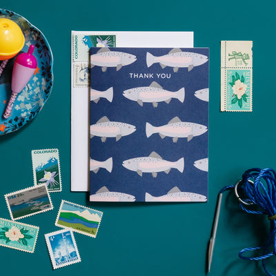 Trout thank you card by REVEL & Co.