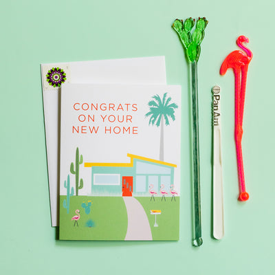 Congrats on your new home Palm Springs house card by REVEL & Co.
