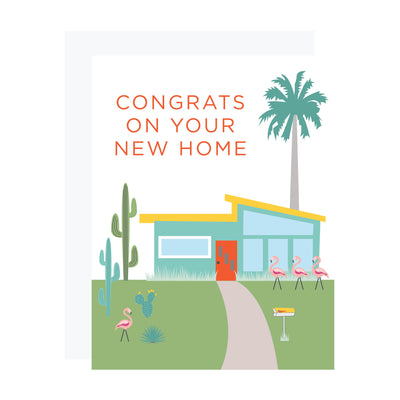 House warming card with Palm Springs desert house by REVEL & Co.