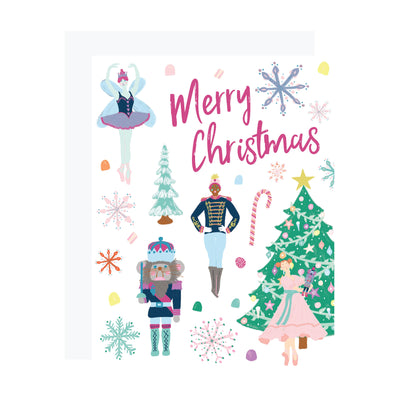 Nutcracker Christmas Card, Rat King, Sugar Plum Fairy. REVEL & Co.