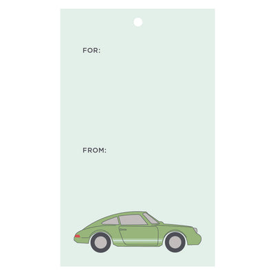 Sports Car Gift Tags